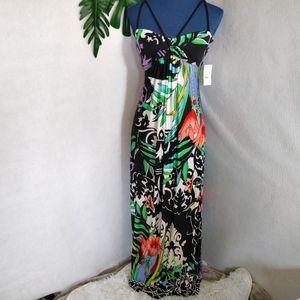 B Darlin Tropical Floral Maxi Dress